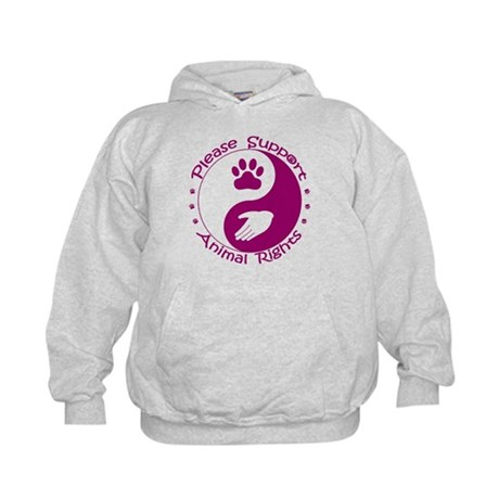 Please Support Animal Rights Kids Hoodie