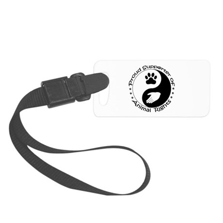 Supporter of Animal Rights Small Luggage Tag