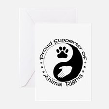 Supporter of Animal Rights Greeting Cards (Pk of 2