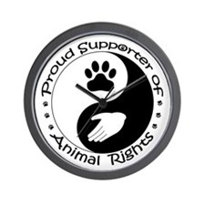 Supporter of Animal Rights Wall Clock