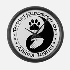 Supporter of Animal Rights Large Wall Clock