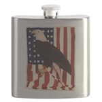 Bald Eagle and Flag Flask