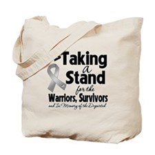 Stand Brain Cancer Tote Bag