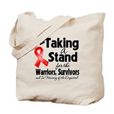 Stand Blood Cancer Tote Bag