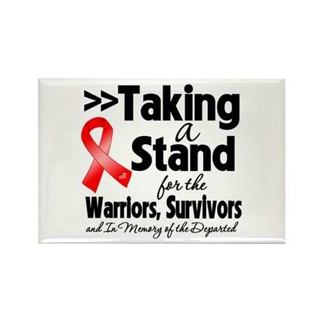 Stand Blood Cancer Rectangle Magnet