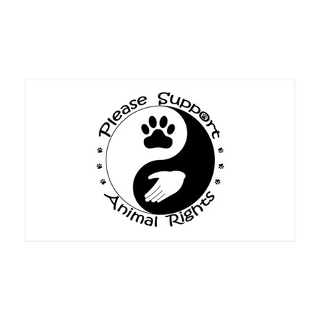 Please Support Animal Rights 35x21 Wall Decal
