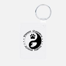 Please Support Animal Rights Keychains