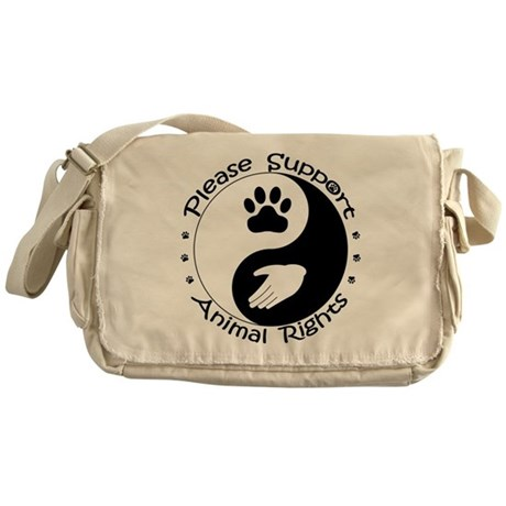Please Support Animal Rights Messenger Bag