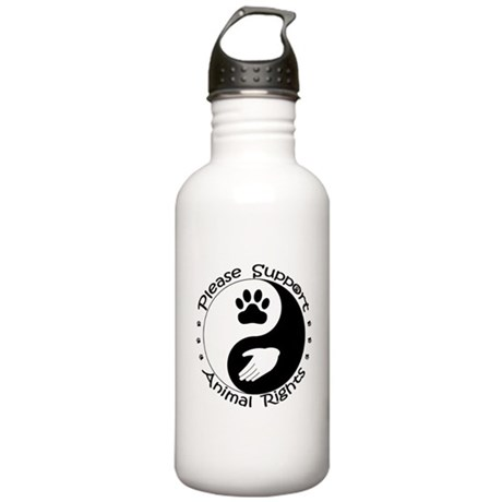 Please Support Animal Rights Stainless Water Bottl