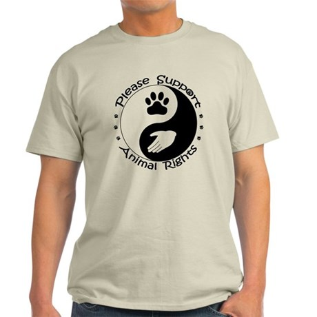 Please Support Animal Rights Light T-Shirt