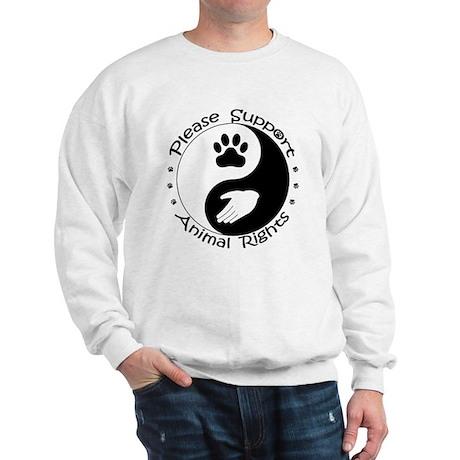 Please Support Animal Rights Sweatshirt