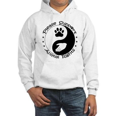 Please Support Animal Rights Hooded Sweatshirt