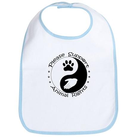 Please Support Animal Rights Bib