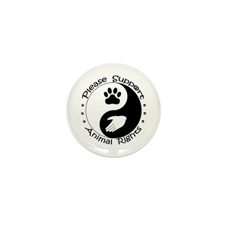 Please Support Animal Rights Mini Button (100 pack