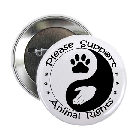 """Please Support Animal Rights 2.25"""" Button"""