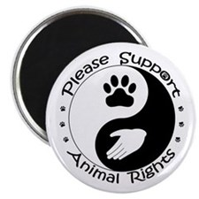 Please Support Animal Rights Magnet