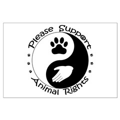 Please Support Animal Rights Posters