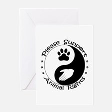 Please Support Animal Rights Greeting Card