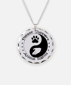 Please Support Animal Rights Necklace