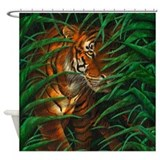 Tiger shower curtain Shower Curtains