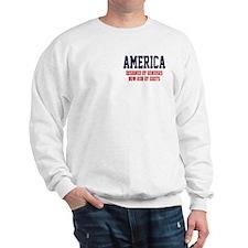 AMERICA: Geniuses - Idiots Sweatshirt