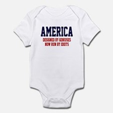 AMERICA: Geniuses - Idiots Infant Bodysuit
