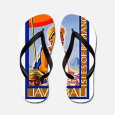 Java Travel Poster 2 Flip Flops