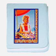 Java Travel Poster 2 baby blanket