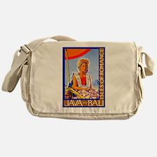 Java Travel Poster 2 Messenger Bag