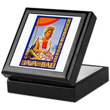 Java Travel Poster 2 Keepsake Box