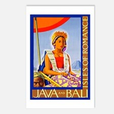 Java Travel Poster 2 Postcards (Package of 8)