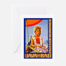 Java Travel Poster 2 Greeting Card
