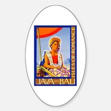 Java Travel Poster 2 Sticker (Oval)