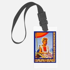 Java Travel Poster 2 Luggage Tag