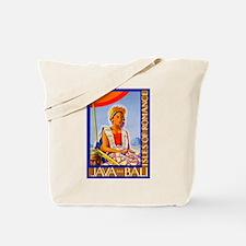 Java Travel Poster 2 Tote Bag