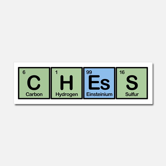 Chess Made of Elements Car Magnet 10 x 3