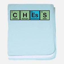 Chess Made of Elements baby blanket