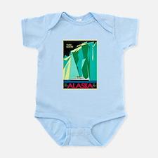 Alaska Travel Poster 4 Infant Bodysuit