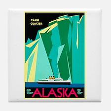 Alaska Travel Poster 4 Tile Coaster
