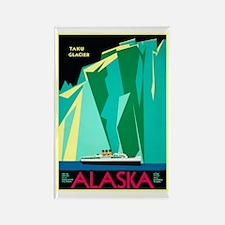 Alaska Travel Poster 4 Rectangle Magnet