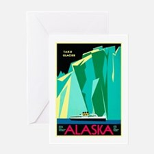 Alaska Travel Poster 4 Greeting Card