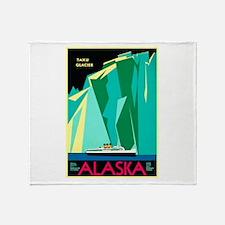 Alaska Travel Poster 4 Throw Blanket
