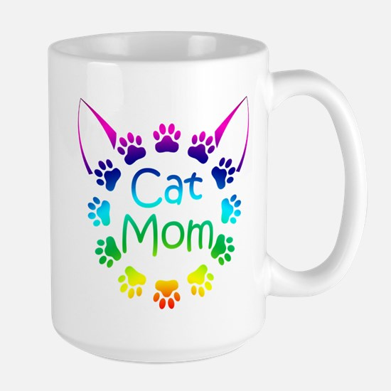 """Cat Mom"" Large Mug"