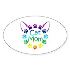 """Cat Mom"" Decal"