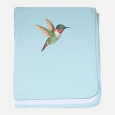 Hummingbird baby blanket
