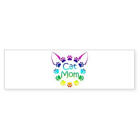 """""""Cat Mom"""" Sticker (Bumper)"""