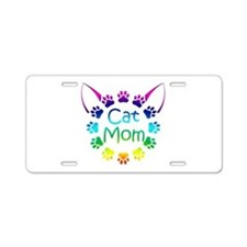 """Cat Mom"" Aluminum License Plate"