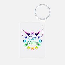 """Cat Mom"" Keychains"