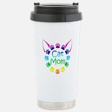 """Cat Mom"" Stainless Steel Travel Mug"