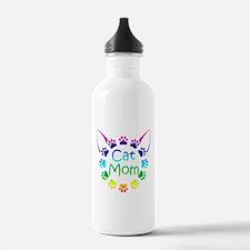 """""""Cat Mom"""" Water Bottle"""